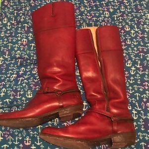 Red Frye Boots!
